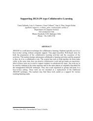 Supporting JIGSAW-type Collaborative Learning - Universidad de ...