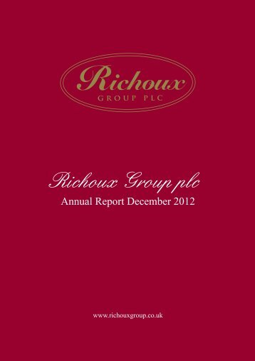 Annual Report December 2012 - Richoux Group
