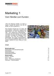 Marketing 1 - Branche Handel