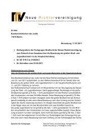 FG-Str R-2011-07-11 Besetzung Grosse - Neue Richtervereinigung eV