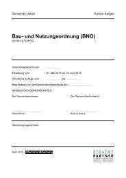 Bau- und Nutzungsordnung (BNO) - Ueken