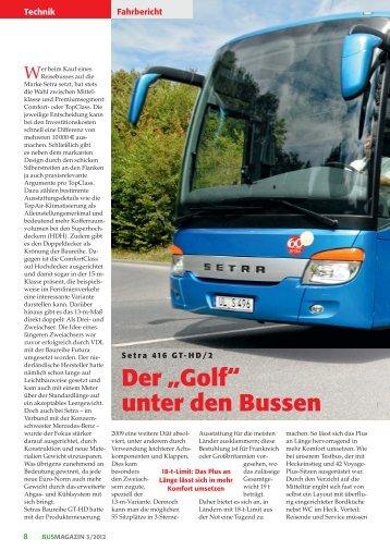 """Der """"Golf"""" unter den Bussen - Busmagazin"""