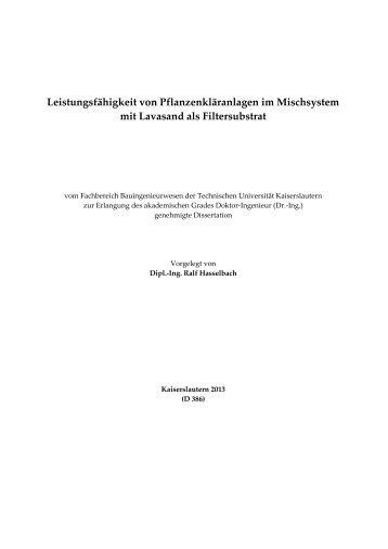 Dissertation Hasselbach TU-KL 2013.pdf - KLUEDO - Universität ...