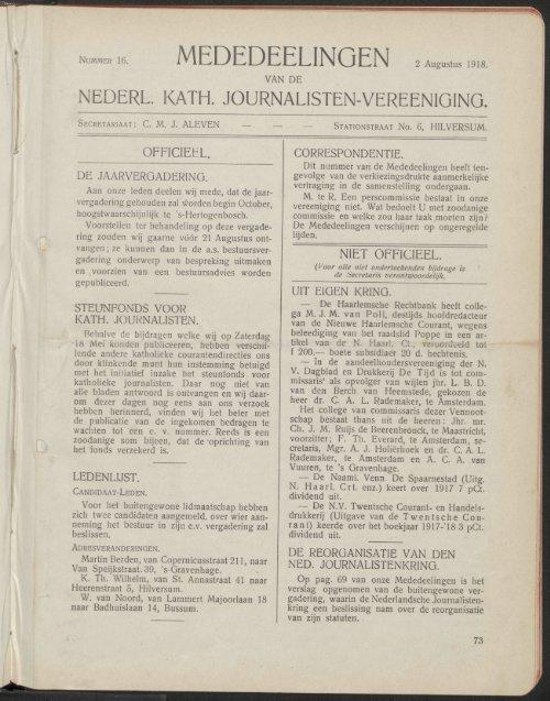 MEDEDEELINGEN , **•*.1918.