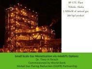 Small Scale Gas Monetization via miniGTL Options