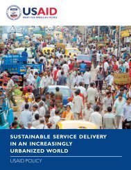 Sustainable Service Delivery in an Increasingly Urbanized ... - USAid