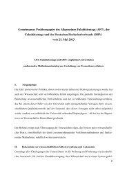 Gemeinsames Positionspapier des Allgemeinen Fakultätentags ...