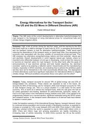 Energy Alternatives for the Transport Sector: The US and the EU ...