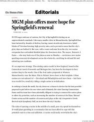 (MGM plan offers more hope for Springfield\222s ... - City of Springfield
