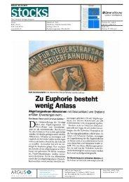 Fachartikel: Zu Euphorie besteht wenig Anlass - Schweiz