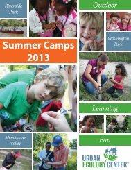Summer Camps 2013 - Urban Ecology Center