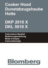 Cooker Hood Dunstabzugshaube Hotte DKP 2010 X ... - Blomberg