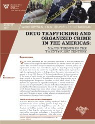 drug trafficking and organized crime in the americas - Woodrow ...