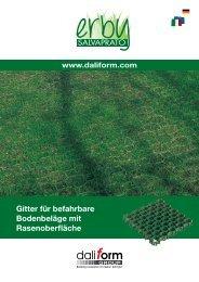 Gitter für befahrbare Bodenbeläge mit Rasenoberfläche