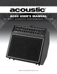 AG60 USER'S MANUAL - Acoustic