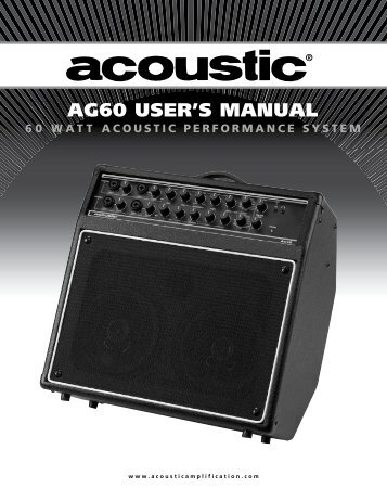 AG60 USER'S MANUAL - Acoustic