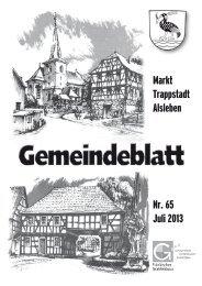 Gemeindeblatt Juli 2013
