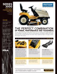 THE PERFECT COMBINATION - Cub Cadet
