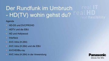 Der Rundfunk im Umbruch - HD(TV) wohin gehst du?