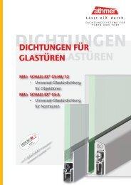 Dichtungen für Glastüren | Stand 11/2012 - Athmer