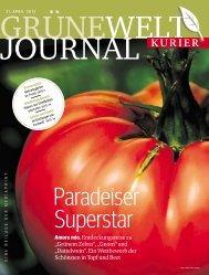Grüne Welt Journal vom 21. April 2013 - Kurieranzeigen