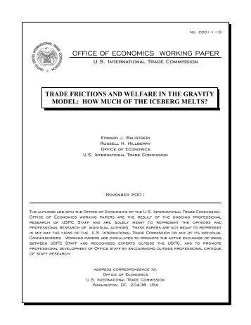 gravity model international trade pdf