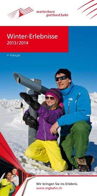 Winter-Erlebnisse - Matterhorn Gotthard Bahn