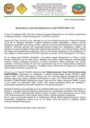 Sprawozdanie z wyjazdu na Targi POLEKO 2009 - Koło Naukowe ...