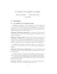 Le problème de la rigidité des graphes - Normalesup.org