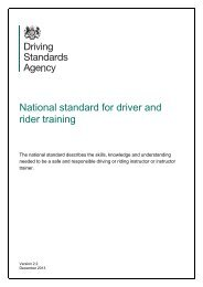 National standard for driver and rider training - Gov.UK