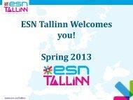 ESN Tallinn Welcomes you! Spring 2013