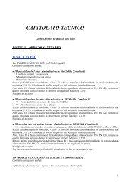 CAPITOLATO TECNICO - Fare