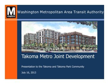 WMATA presentation - DC-MD Neighbors for Takoma Transit