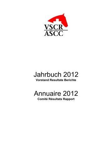 Jahrbuch 2012 Annuaire 2012 - VSCR