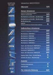 Selbstschluss-Armaturen für Waschtische ... - Kuhfuss Delabie
