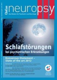 Schlafstörungen bei psychiatrischen Erkrankungen