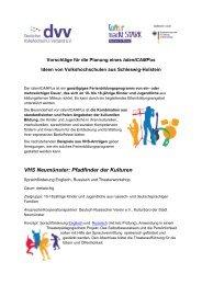 VHS-Projekte in Schleswig-Holstein - Landesverband der ...
