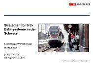 Strategie für 8 S-Bahnsysteme in der Schweiz - Regionale Schienen