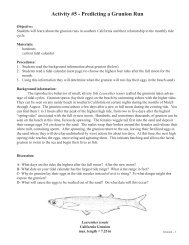 Activity #5 - Predicting a Grunion Run - University of Southern ...