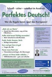 Seminar: Perfektes Deutsch! - Management Circle ... - unique relations