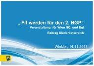 """"""" Fit werden für den 2. NGP"""" - Umweltdachverband"""