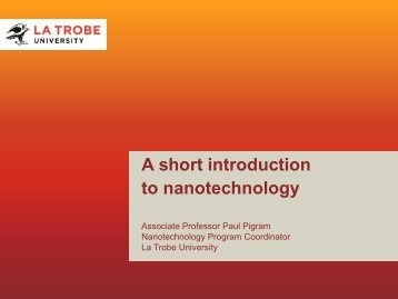 A short introduction to nanotechnology - LatrobeIGS2