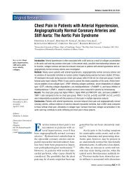 Chest Pain in Patients with Arterial Hypertension, Angiographically ...
