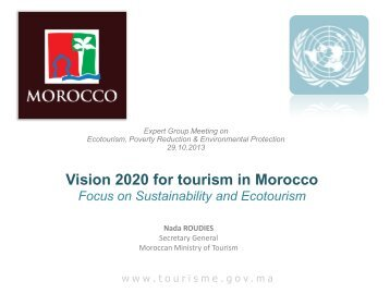 Sustainability and Ecotourism in Vision 2020 for tourism in Morocco