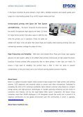 epson launches world's first ink tank system ... - Epson Singapore - Page 2