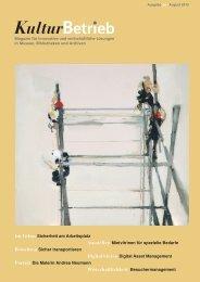Ausgabe drei, August 2013 - KulturBetrieb