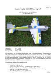 Bauanleitung für EDGE 540 aus Depron® - Uploadarea.de