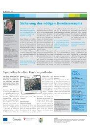 Ausgabe Nr. 14 - Dezember 2008 - Zukunft Alpenrhein