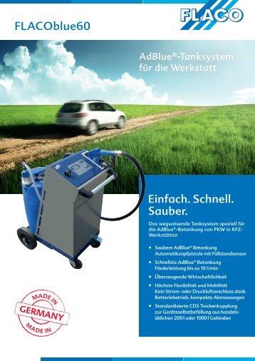 FLACOblue60 Einfach. Schnell. Sauber. - FLACO-Geräte GmbH