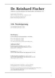 134. Versteigerung - Dr. Reinhard Fischer Briefmarken Auktions